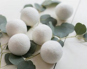 SALE! 6 Premium Wool Dryer Balls Set of 6 XL - Free Shipping