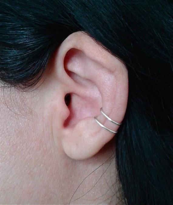 aspetto estetico ultimo di vendita caldo migliore online Orecchino per cartilagine, orecchino in argento 925 senza piercing,  orecchino singolo, orecchino semplice, gioielli per tutti i giorni