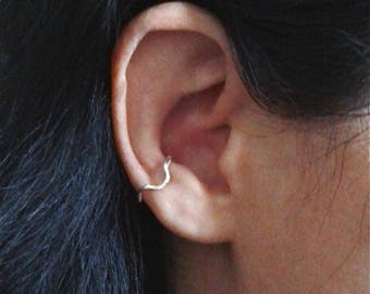 Sterling silver conch cuffs, cartilage earring, conch jewelry, cartilage ear cuff, non pierced ear cuff, fake ear cuff, cartilage jewelry