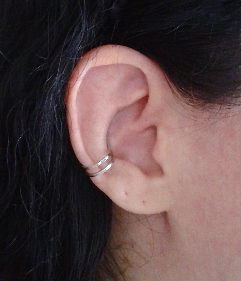 Double Ear Cuff Cartilage Earring Wrap Around Earring Fake Ear Cuff Cartilage Ear Cuff Conch Earring Ear Cuff No Piercing Men Jewelry