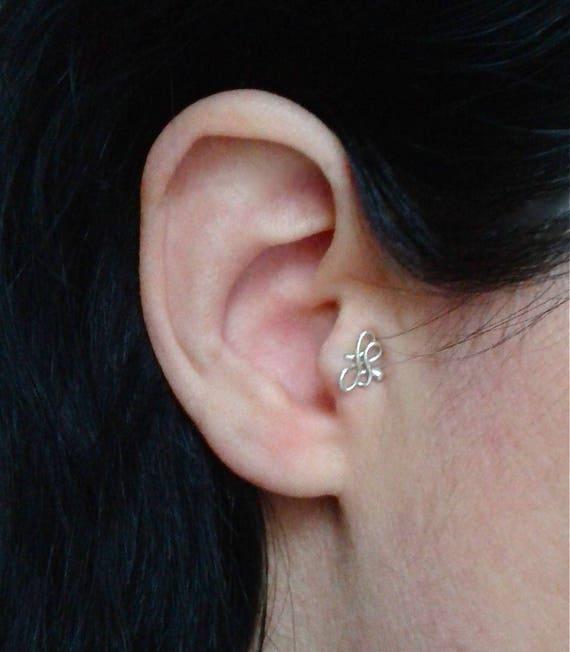 Tragus Piercing Earring Cartilage Earring For Pierced Tragus Etsy