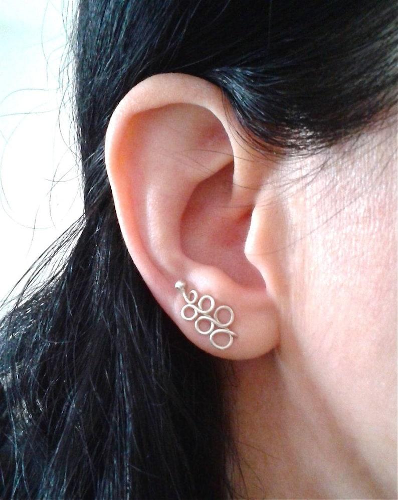 89f8d74857c2 Trepadores de oreja de plata pendientes delicados