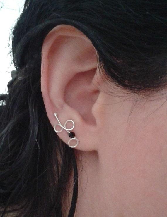 5cbbe9ddf3d5 Silver ear cuffs cool ear climbers sterling ear cuffs
