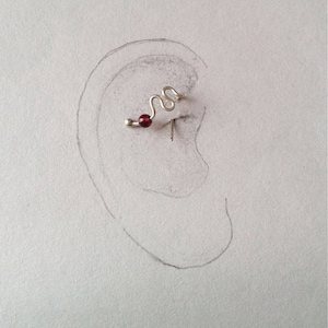 cartilage earring 16 18 gauge dragonfly earring 20 g sterling silver unusual earring Daith earring daith piercing jewelry libellule