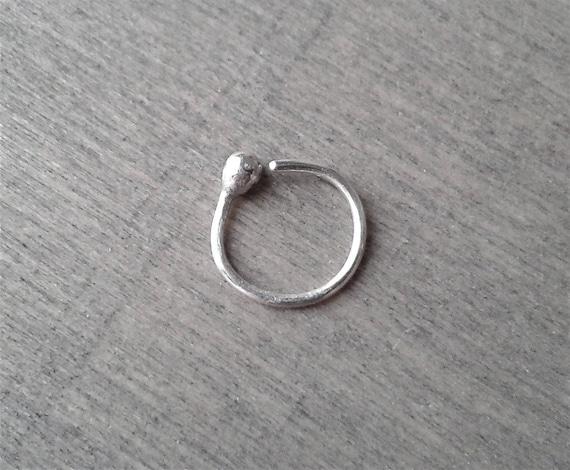 1 paire Cartilage Boucles d/'oreilles Créoles Argent Sterling 20 Gauge 10 mm Diamètre intérieur