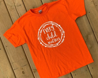 YOUTH - National Day for Truth and Reconciliation Orange Shirt, Every Child Matters, Orange Shirt Day