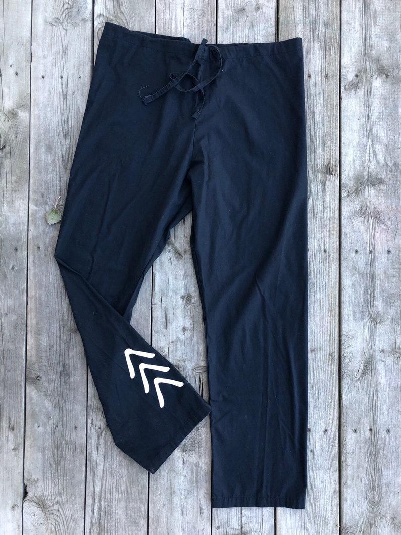 52ab06d8d4f The Lucky Few Scrub Pants Hospital Pants Black Comfy Pants | Etsy