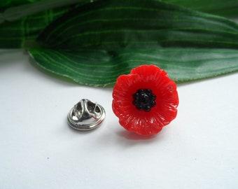 Poppy lapel pin etsy poppy lapel pin poppy tie pin flower lapel pin red poppy tie pin lapel pin poppy brooch mightylinksfo