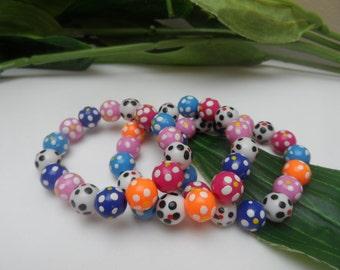 Girls set of 3 stretchy bracelet, kids bracelets, stretchy bracelets, girls birthday gifts, bracelet party favors