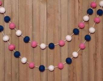 Garland Light Pink Navy Nursery Party Decoration