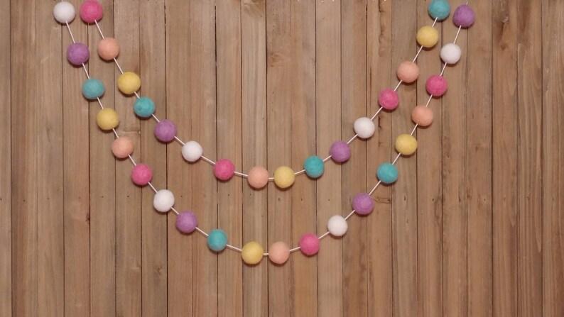 Banner Rainbow Bunting Birthday Party Unicorn Garland Felt Ball Baby Shower Decorations Girl Nursery Decor Pom Pom Girls Room