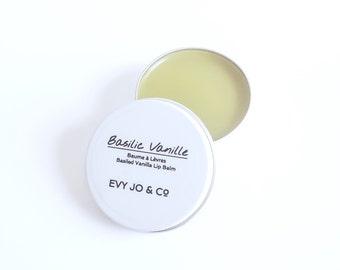 Stocking Stuffers - Basil & Vanilla Lip Balm, Vanilla Lip Balm, Organic Lip Balm, Lip Balm, Lip butter, Baume à Lèvres Vanille et Basilic
