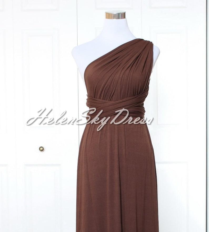 Dark Brown Bridesmaid Dresses