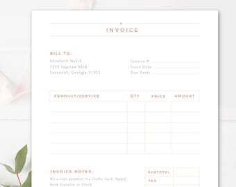 Design templates etsy invoice template for photographers photography invoice receipt form in adobe photoshop ms word business forms instant download maxwellsz