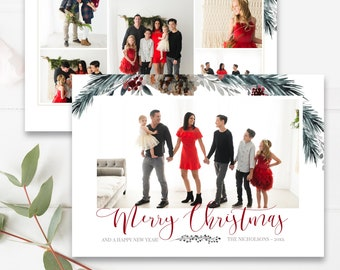 christmas card template etsy
