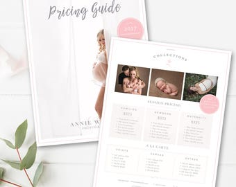 Photography Price List Template Photographer Pricing Guide Photo Sell Sheet Photoshop INSTANT DOWNLOAD