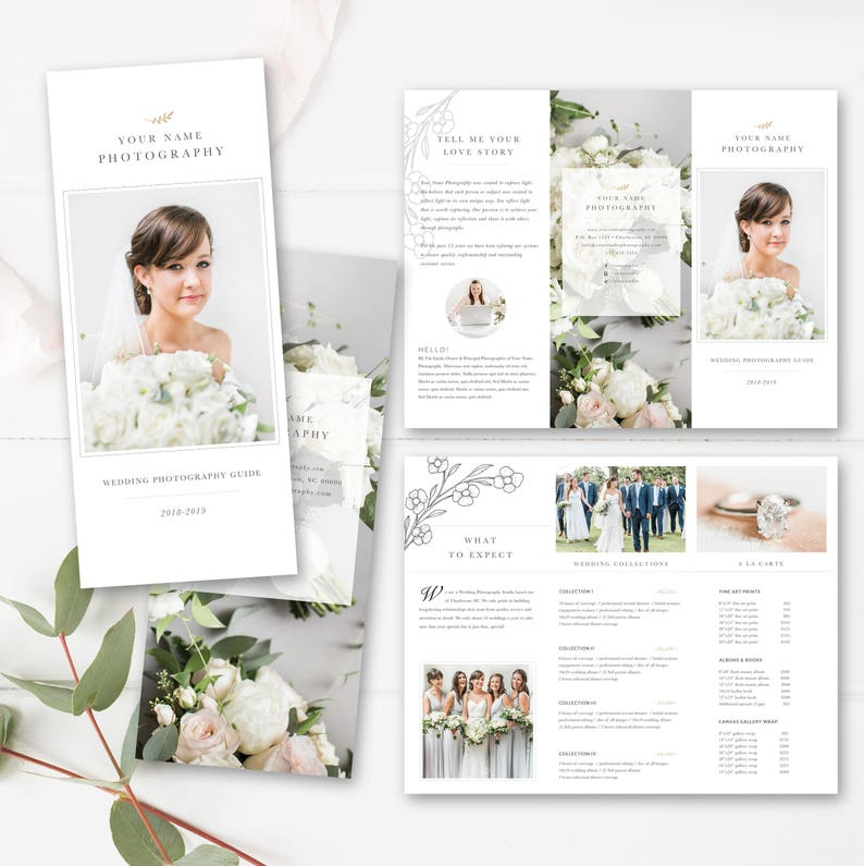 Photography Trifold Brochure Template For Photoshop Client Etsy