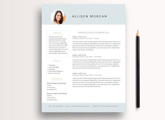 Resume Template 3 page / CV Template + Cover Letter / Professional Resume / Instant Download for MS Word + InDesign