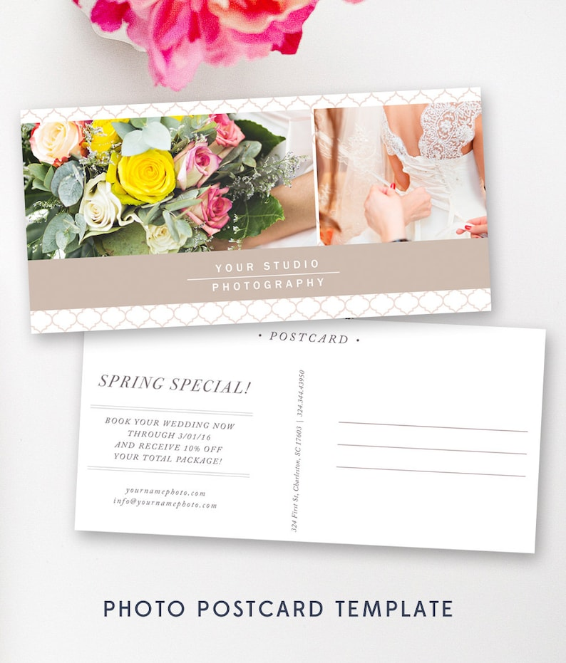 Postcard Marketing Template For Photographers Digital Etsy