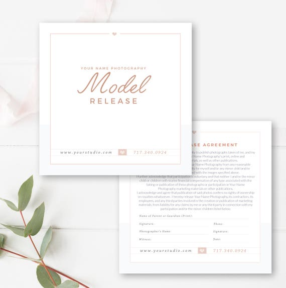Photographer Model Release Template Photography Business