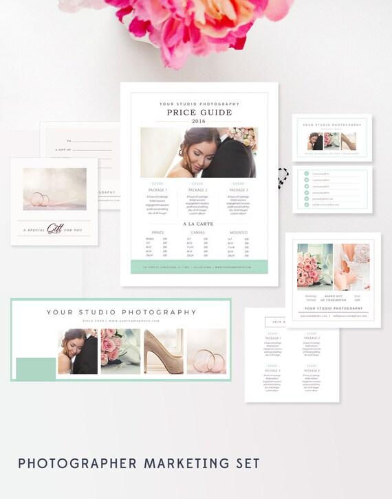 Hochzeit Fotograf Marketing Set Foto Visitenkarten Vorlagen Für Fotografen Preis Guide Geschenkkarte Timeline Preise