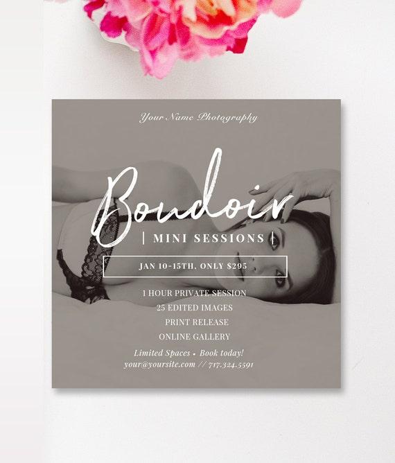 Boudoir Instagram Template  Boudoir 5x5 Template, Boudoir Marketing,  Valentine's Marketing, INSTANT DOWNLOAD!