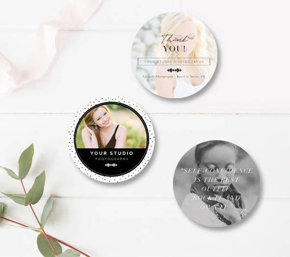 Sticker Design Photography Marketing Templates Photographer Etsy