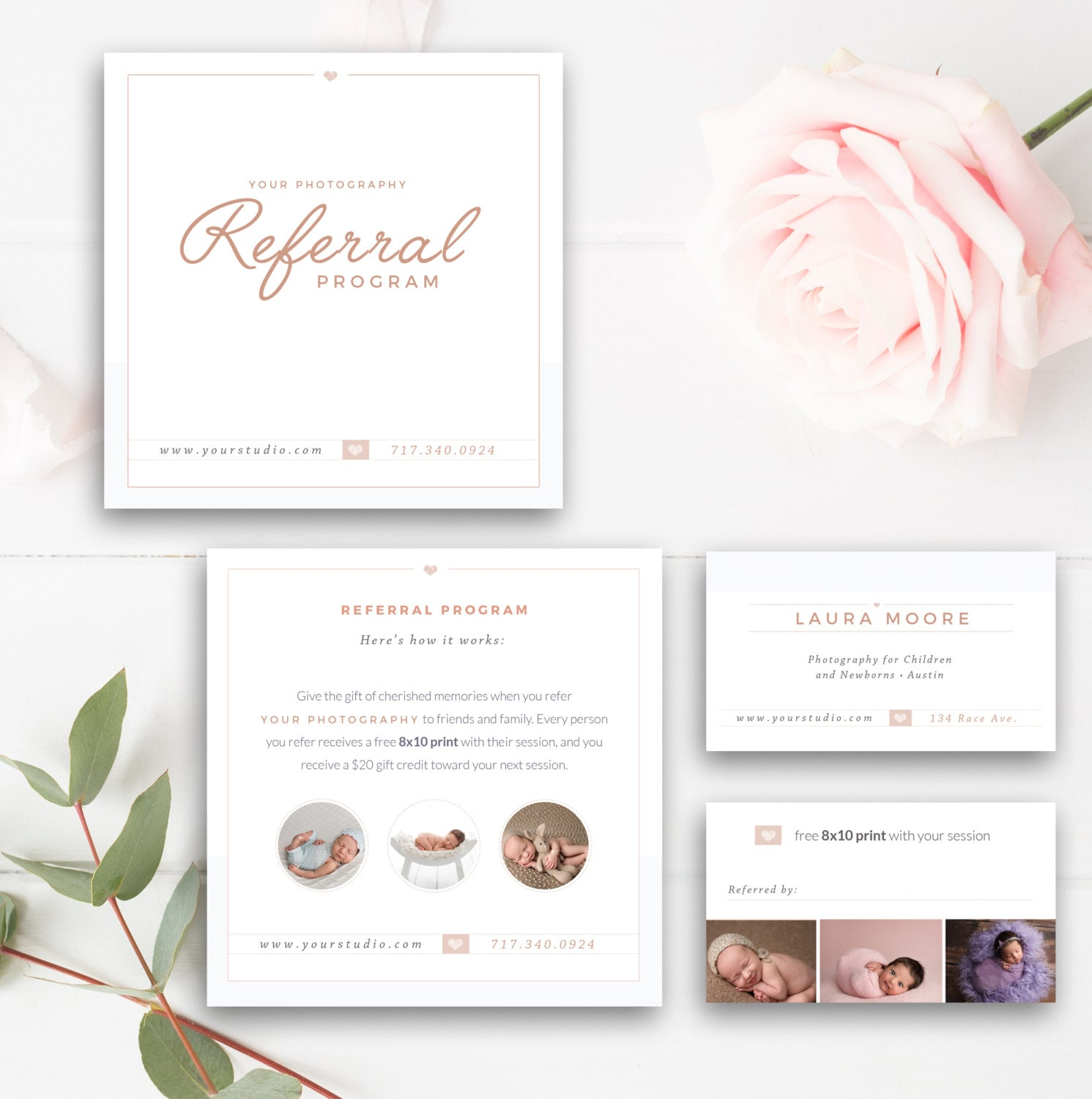Photography Referral Card Photoshop Template Referral Etsy