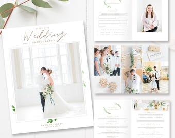Wedding Photographer Magazine Template, Photo Studio Magazine, Wedding Price List, Wedding Pricing - 12 pages - INSTANT DOWNLOAD