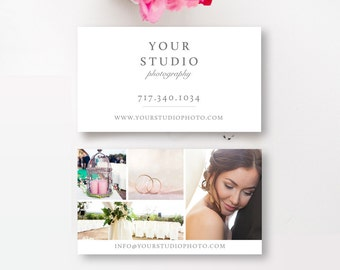 Business Card Template for Photographers - Photo Marketing Templates - Photography Business Cards - INSTANT DOWNLOAD