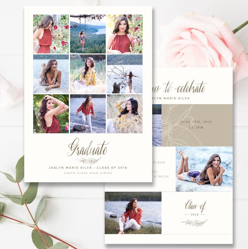 High School Graduation Invitation Template 2019 Senior Marketing Photoshop INSTANT DOWNLOAD