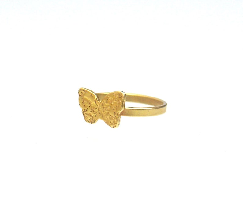 Butterfly Gift Butterfly Jewelry Midi Ring Cute Gold Tone Ring Summer Gift Girls Ring Thin Butterfly Ring Gold Butterfly Ring