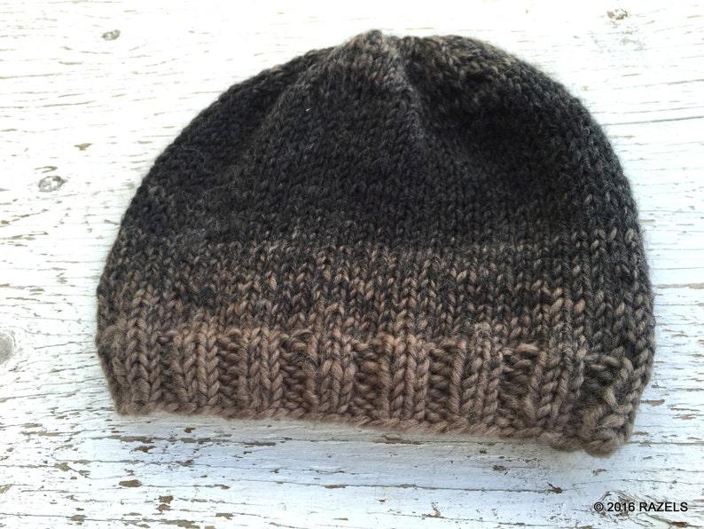 597e66a369a Handknit MENS WOOL HAT Mens Wool Beanie
