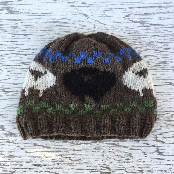 5e792f8102e BLACK SHEEP HAT Humorous Handknit Wool Hat Beanie Cap Funny