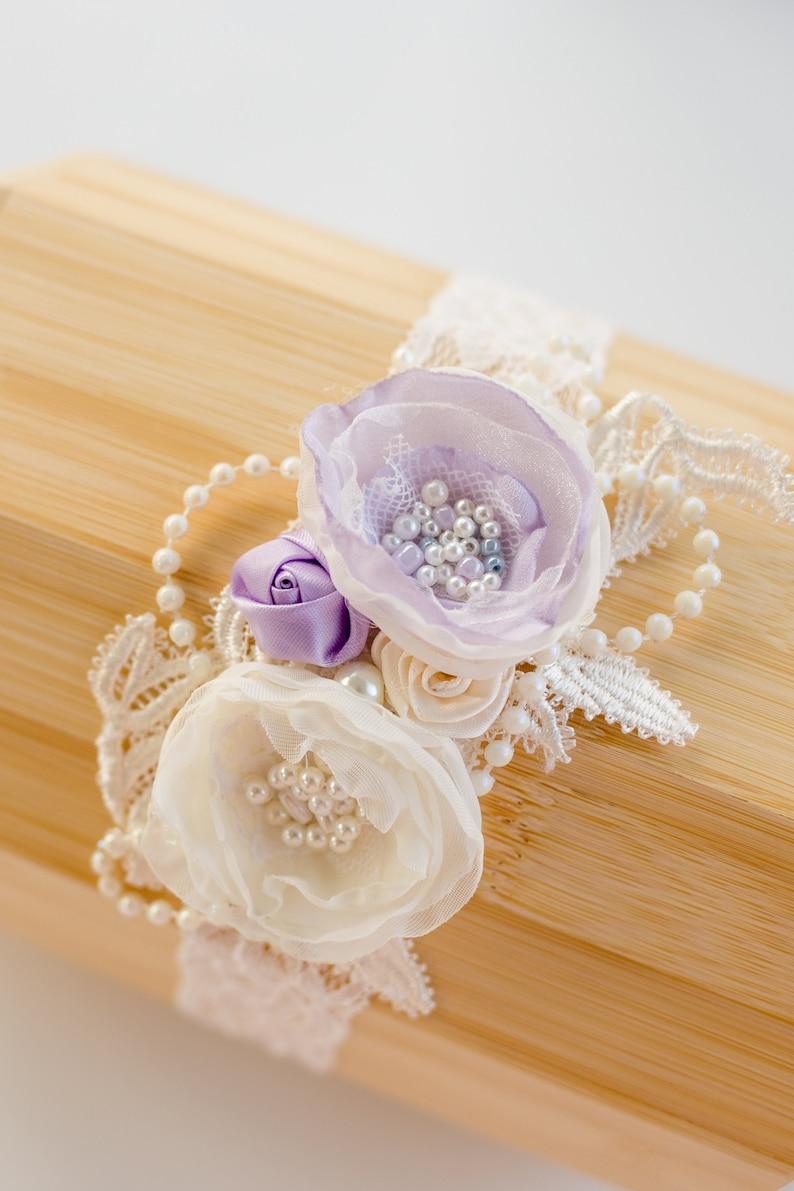 purple and white flowers,baptism flower girl,party,handmade in USA Girls baby headband photo prop baby girls headband.