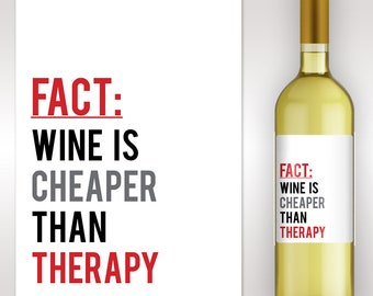 Boss Appreciation Gift -Birthday Gift Ideas -Teacher Appreciation Gift -Custom Wine Label - Friend Gift -Funny Gift - Wine Lover Gift
