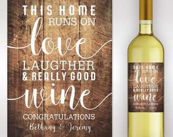 Housewarming Gift -New Home Personalized Wine Label - Custom Wine Label - Personalized Housewarming Gift - Housewarming Gift Basket