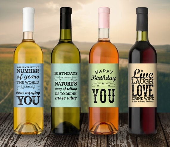Birthday Gift Wine Label Custom 21st