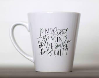 Kind Heart || Hand Lettered Coffee Mug