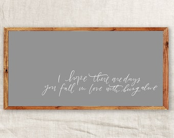 Fall in Love    DWELL Sign