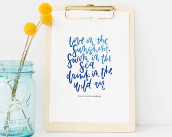 Hand Lettered Print | Emerson