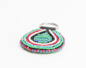 Hand beaded Keychain