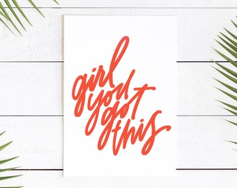 Encouragement Greeting Card || You Got This
