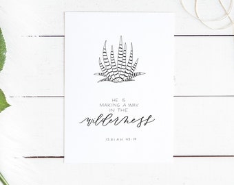 Hand Lettered Print | Isaiah 43:19