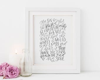 Hand Lettered Print | It Is Well