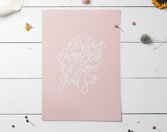 Hand Lettered Print | Darling Daughter