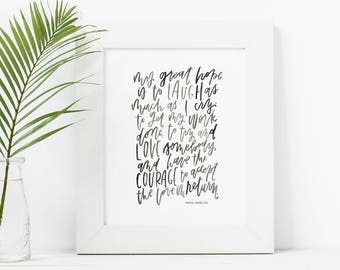 Hand Lettered Print | My Great Hope
