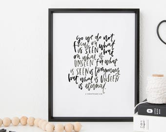Hand Lettered Print | Unseen