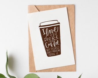 Love Greeting Card || Coffee