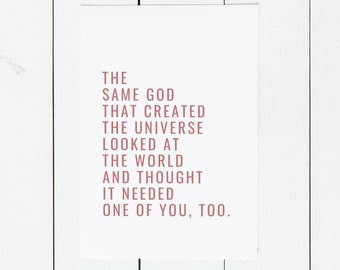 Encouragement Greeting Card || The Same God
